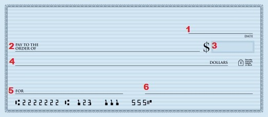 How to Write a Check How to Fill Out a Check fields