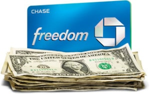 Chase Freedom 5 percent cash back