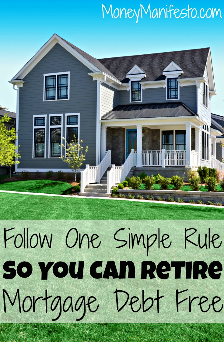 No one wants mortgage debt on their house when they retire. Want to know how to be debt free when you retire? Follow one simple rule and payoff your mortgage before you retire. It is one of my favorite tips to become debt free and own your home outright without living in a tiny home.