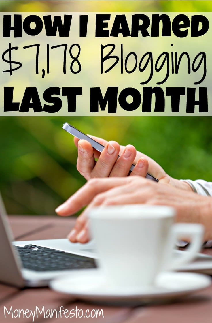Here's my monthly income report where I detail how I make money at home! Last month I made $7.178 by blogging at home. I share exactly how I make money online, detailing each source of income. I make money blogging and I share how you can, too. Find out my tricks today!
